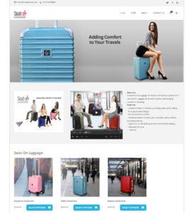 seat on luggage