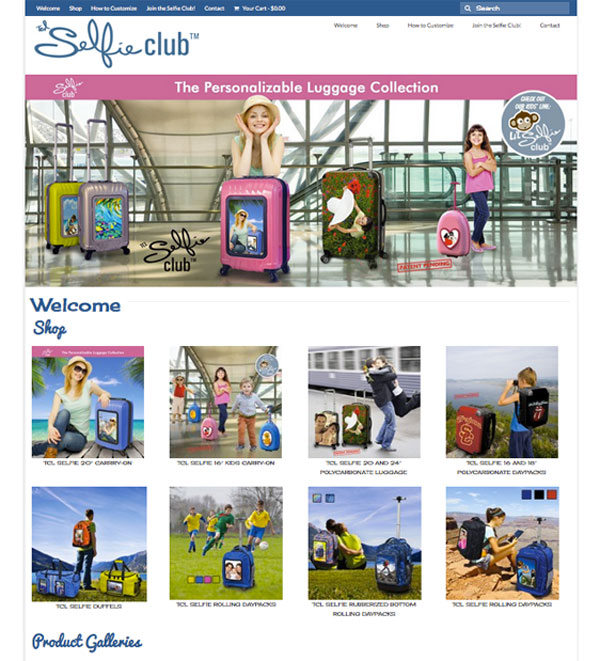 selfie club usa luggage