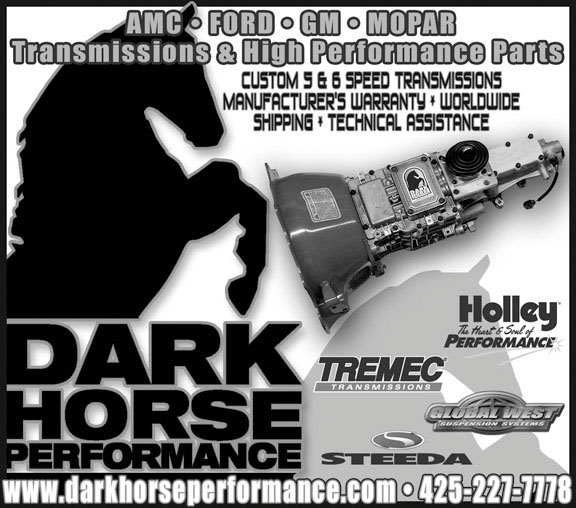 automotive ad dark horse