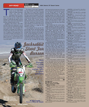 Cycle News article